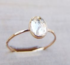 Luxuring on Etsy https://www.etsy.com/listing/225764965/dainty-gold-ring-engagement-ring-white