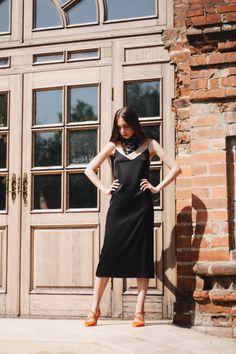 Платье-комбинация на тонких бретельках из шёлка чёрного цвета Moscow, Photo And Video, Clothing, Instagram, Dresses, Fashion, Tall Clothing, Gowns, Moda