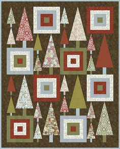 Project: Basic Grey Figgy Pudding Contemporary Christmas Quilt Finished Size: x Supplies: Figgy Pudding Quilt Kit Available at Dakot. Christmas Sewing, Christmas Crafts, Christmas 2015, Christmas Trees, Modern Christmas, Xmas, Purple Christmas, Coastal Christmas, Quilting Tutorials