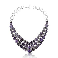 Amethyst Necklace !! Gemstone Silver Jewellery Wholesaler India