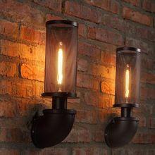 Vintage Wall Light Loft Nordic lampe de paroi de la canalisation d'eau anti - déflagrant réseau appliques murales éclairage industriel décor avec E27 ampoule(China (Mainland))