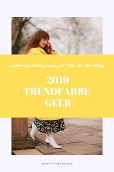 Die Gute-Laune Farbe Gelb ist DER Farbtrend im Frühling und Sommer 2019. Hier findest du praktische Tipps und Tricks, wie du die Trendfarbe im Alltag stylisch und trendy kombinieren kannst. Outfit Inspirationen sind inklusive! Spring Fashion Trends, Mode Inspiration, Spring Summer, Outfit, Movie Posters, Handy Tips, Color Yellow, Good Mood, Styling Tips