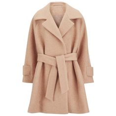 2NDDAY Women's Roxie Coat - Peach Nougat (1.000 RON) ❤ liked on Polyvore featuring outerwear, coats, pink, pink coat, cocoon coat, long overcoat, beige coat and over coat