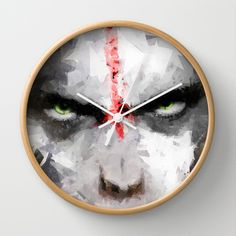 Ape Wall Clock by Vadim Cherniy - $30.00