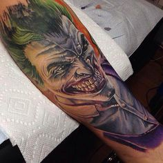 Joker Tattoo by Derek Turcotte