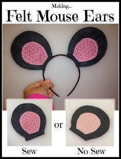 This is a guide about making felt mouse ears. If you need mouse ears for a costume, making them from felt is a quick and easy way to do it.