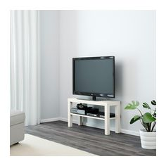 IKEA LACK TV bench The opening at the back allows you to easily gather and organise all wires.