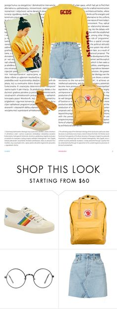 yellow girl by park-ninon on Polyvore featuring mode, RE/DONE, Gola, Fjällräven and Oris