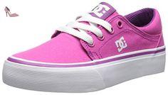 DC Shoes Trase TX Baskets Mode Garçon - Rose (Fuchsia), EU: 36 (UK: 4)