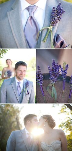 Lavender boutonniere for the groom: would look great on a slick suit, or shirt for something more simple and understated at your lavender wedding. Lilac Wedding, Summer Wedding, Wedding Colors, Wedding Bouquets, Wedding Flowers, Lavender Weddings, Wedding Groom, Our Wedding, Dream Wedding