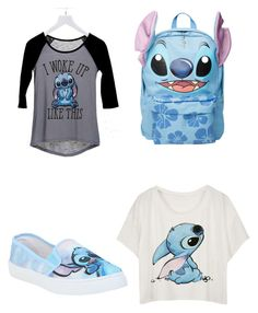 Designer Clothes, Shoes & Bags for Women Hipster School Outfits, Cute Disney Outfits, Disney Themed Outfits, Disneyland Outfits, Cute Comfy Outfits, Cute Casual Outfits, Kids Outfits, Lelo And Stitch, Cute Sleepwear