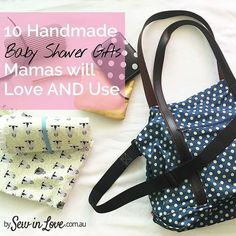 10 practical and useful items you can make for a baby shower gift. As a new Mama, I cant do without these baby essentials! See the baby sewing list at http://www.sewinlove.com.au/2016/01/10/10-homemade-baby-shower-gifts-mamas-love/