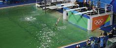 Rio 2016 Svelato il mistero della piscina verde e la chiudono