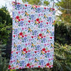 Summer Meadow Tea Towel   DotComGiftShop