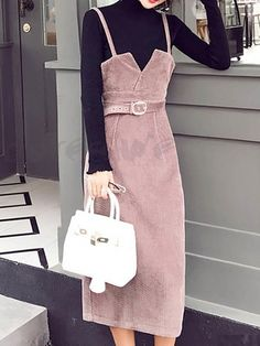 cute girly outfits with jeans Fall Dresses, Simple Dresses, Wedding Dresses, Moda Korea, Girly Outfits, Casual Outfits, Modest Fashion, Fashion Dresses, Jumper Dress