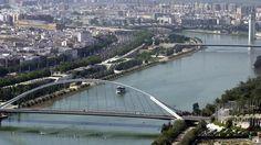 Sevilla desde el puente del Alamillo
