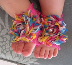 Baby Barefoot Sandals by BowsAndBabyToes on Etsy, $10.00