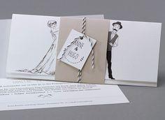 Hipster #Hochzeitskarten #kreativehochzeitskarten #einladungskarten  Panama M36-020