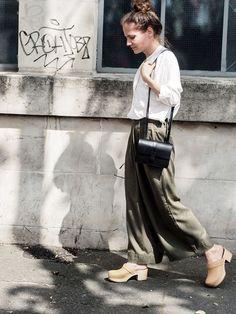 Wooden Shoe, Wooden Sandals, Wooden Clogs, Swedish Clogs, Swedish Hasbeens, Street Chic, Street Fashion, Summer Clothes, Summer Outfits