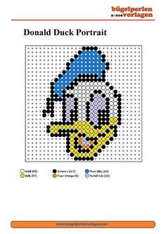 perler beads disney patterns | Bügelperlen Vorlagen Donald Duck / Perler Bead Pattern Patterns ...