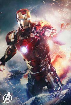 The Avengers-Iron Man mark 7 Iron Man Avengers, Marvel Avengers, Captain Marvel, Hero Marvel, Marvel Dc Comics, Female Avengers, Ms Marvel, Iron Men, Iron Man Wallpaper