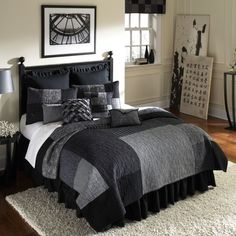 Mens Bedding, Bedding For Men, Masculine Comforters, Duvets, Sheets & Quilts for Guys: The Home Decorating Company Blue Bedroom Walls, Blue Bedroom Decor, Farmhouse Bedroom Decor, Master Bedroom, Men Bedroom, Bedroom Modern, Bedroom Bed, White Bedroom, Men's Bedding
