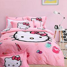 FADFAY 4Pcs Hello Kitty Bedding Sets Cute Cartoon Cotton ... https://www.amazon.com/dp/B01DU3U026/ref=cm_sw_r_pi_dp_UafFxbQ4H4345