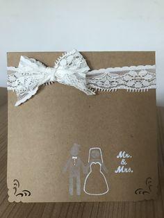 Handmade wedding card by Petka