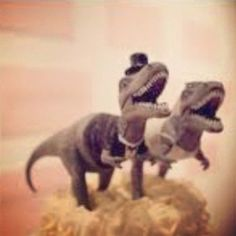 Dinosaur wedding cake topper???