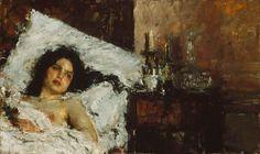 Resting - Antonio Mancini 1887