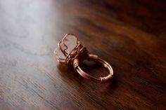 Crystal Quartz Power Ring by TerraArcana on Etsy