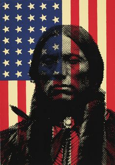 """First """"Americans"""" Stellar Picture and Political Statement rolled into one. #nativeamerican"""