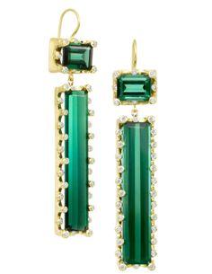 Suzy Landa one-of-a-kind tourmaline earrings