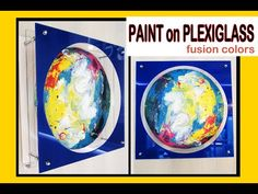 DIY Painting: How to paint on plexiglass - Contemporary Installation (step-by-step guide) Design Projects, Art Projects, Mural Art, Diy Videos, Step Guide, Diy Painting, Diy And Crafts, Make It Yourself, Contemporary