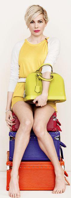 Michelle Williams's Spring 2014 Louis Vuitton Handbag Campaign. |~ LadyLuxury~