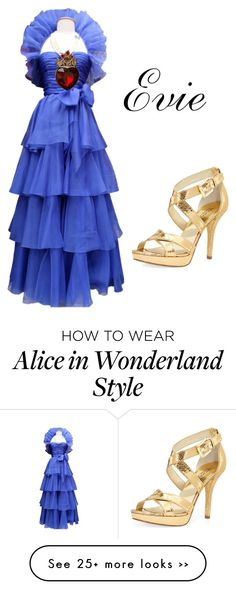 """Evie Descendants!"" by balletdancer4eva on Polyvore featuring Jean-Louis Scherrer, MICHAEL Michael Kors and Once Upon a Time"