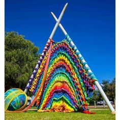 """""""Giant Knitting"""" - Sculpture By The Bay project, Australia. Gloucestershire Resource Centre http://www.grcltd.org/scrapstore/"""