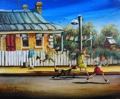 Max Mannix Painting - The Fence Painter Australian Artists, Fence, Gallery, Studios, Painting, Painting Art, Paintings, Drawings