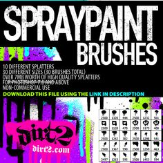 Hi-Res Splatters 1 - Download  Photoshop brush http://www.123freebrushes.com/hi-res-splatters-1/ , Published in #GrungeSplatter. More Free Grunge & Splatter Brushes, http://www.123freebrushes.com/free-brushes/grunge-splatter/ | #123freebrushes
