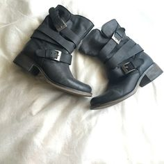 Steve Madden Boots Strap Brewer Detail boot Vintage look NWOT They are sold out boots Steve Madden Shoes Combat & Moto Boots