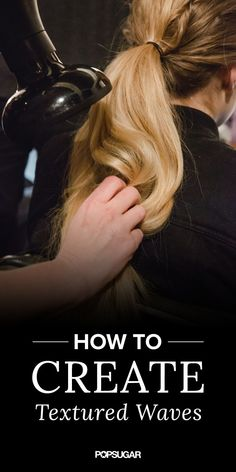 All you need to create perfect waves is your hair dryer and your hands!