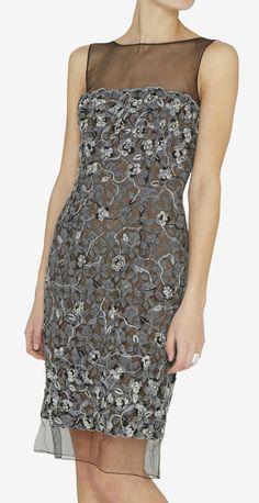 Classics!!!!    Oscar de la Renta Silver And Black Dress