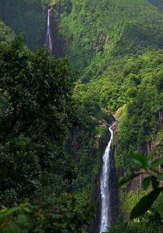 Chutes de Carbet, Parc National de la Guadeloupe (by fs999).