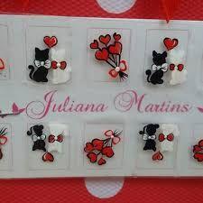 Resultado de imagem para adesivos artesanais com gatinhos Daisy Nails, Foto Art, Manicure And Pedicure, Cute Nails, Nail Art, Holiday Decor, Flowers, Impalas, Pints