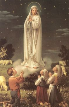 "From May 13th 1917 until October 13th 1917 three shepherd children, Lucia, Jacinta and Francisco saw the apparition of ""Our Lady of Fatima""."