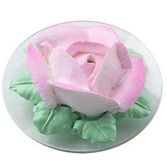 Solitary Rose Mini Cake - Larger-than-life sized rose holds a 3-1/2 in. mini ball cake inside!  Graceful petals are piped using whipped topping. Color Mist  spray adds the subtle variations of pink.