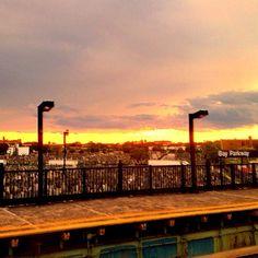 Sundown on the (F) Train - @jeffreynyc