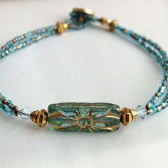 Czech glass beads #swarovski crystal #lead free pewter #miyuki seed beads