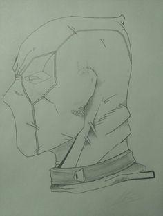 Badass Drawings, Pencil Art Drawings, Art Drawings Sketches, Superhero Art Projects, Superhero Sketches, Naruto Drawings Easy, Comic Books Art, Comic Art, Gas Mask Art