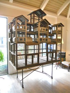 Huge Italian Bird House | From a unique collection of antique and modern bird cages at https://www.1stdibs.com/furniture/more-furniture-collectibles/bird-cages/